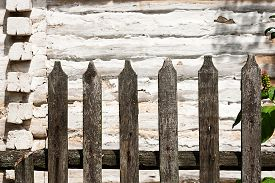 stock photo of wooden fence  - Vintage background texture - JPG