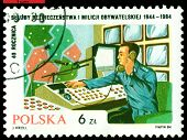 Vintage  Postage Stamp. 40 Th Anniversary Polish Militia.
