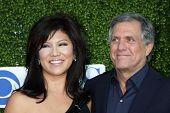 LOS ANGELES - JUL 28:  Julie Chen & Les Moonves arrive at the 2010 CBS, The CW, Showtime Summer Pres
