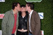 LOS ANGELES - JUL 28:  Michael Weatherly, Pauley Perrette, Brian Dietzen arrive at the CBS Summer Pr