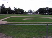 Summer Baseball Diamond Field