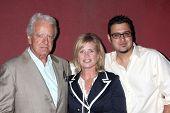 LOS ANGELES - JULY 31:  Nicolas Coster, Mary Beth Evans, & Gregori J. Martin at the