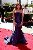 LOS ANGELES - el 21 de agosto: Maria Canals Barrera llega en el Primetime Emmy Awards 2010 creativo sin ningún