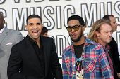 LOS ANGELES - SEP 12:  Drake, Kid Cudi arrive at the 2010 MTV Video Music Awards  at Nokia - LA Live