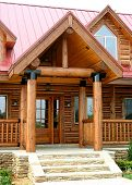 image of front door  - What a entrance to this lovely country cabin - JPG