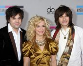 LOS ANGELES - NOV 21:  The Band Perry - Reid Perry; Kimberly Perry; Neil Perry  arrives at the 2010