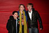 LOS ANGELES - NOV 28:  Bradley Steven Perry, Bridgit Mender, Jason Dolley arrive at the 2010 Hollywo