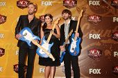 LAS VEGAS  - DEC 6: Charles Kelley, Hilary Scott, Dave Haywood of Lady Antebellum in the press room