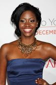 LOS ANGELES - DEC 13:  Teyonah Parris at Heather Tom's Annual Christmas Party 2010 at Village Theate