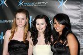 LOS ANGELES - DEC 14:  Madison Beaty, Jillian Clare, Christine de Leon attend the