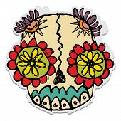 image of sugar skulls  - day of the dead sugar skull candy - JPG