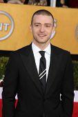 LOS ANGELES - JAN 30:  Justin Timberlake arrives at the 2011 Screen Actors Guild Awards  at Shrine A