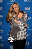 LOS ANGELES - FEB 7:  Jennifer Gareis and son Gavin at the 6000th Show Celebration at The Bold & The Beautiful at CBS Television City on February 7, 2011 in Los Angeles, CA