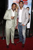 LOS ANGELES - FEB 10:  Sugar Shane Mosley and his son Shane arrives at the