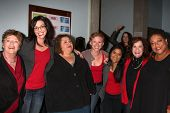 LOS ANGELES - FEB 18:  Cast Members at the VDay - Vagaina Monologues Performance at Barnsdall Galler