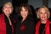 LOS ANGELES - FEB 18:  Alison Arngrim, Kate Linder, Tippi Hedren at the VDay - Vagaina Monologues Pe