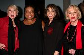LOS ANGELES - FEB 18:  Alison Arngrim, Diane Amos. Kate Linder, Tippi Hedren at the VDay - Vagaina M