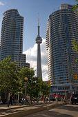 Tower Between 2 Buildings poster