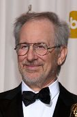 LOS ANGELES -  27:  Steven Spielberg in the Press Room at the 83rd Academy Awards at Kodak Theater,