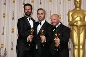 LOS ANGELES -  27:   Emile Sherman, Iain Canning, and Gareth Unwin,  in the Press Room at the 83rd Academy Awards at Kodak Theater, Hollywood & Highland on February 27, 2011 in Los Angeles, CA
