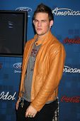 LOS ANGELES -  MARCH 3: James Durbin arrives at the American Idol Season 10 FInalists Party at The G
