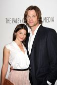 LOS ANGELES - MAR 13:  Genevieve Cortese and Jared Padalecki arrive at the
