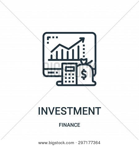 poster of Investment Icon Isolated On White Background From Finance Collection. Investment Icon Trendy And Mod