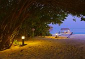 Jetty Beach At Sunset - Maldives