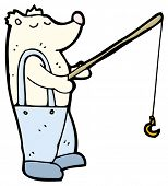 polar bear fishing cartoon (raster version)