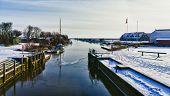 Ribe River Seen From Kammerslusen Lock Gate, Denmark