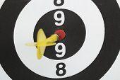 Dartboard Bull´s Eye. Isolated On White Background