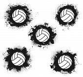 Volleyball Sport Match Tournament Halftone Balls Vector Volleyball Championship Or Sport League Cup  poster