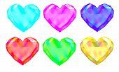 Colorful Gem Hearts