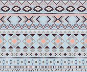 Peruvian American Indian Pattern Tribal Ethnic Motifs Geometric Vector Background. Abstract Native A poster