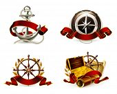 Marine Emblem set, vector