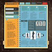 Web Site Template , vector