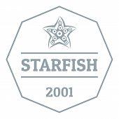 Starfish Logo. Simple Illustration Of Starfish Logo For Web poster