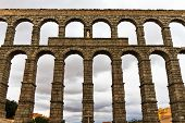 Roman Aqueduct In Segovia (spain)