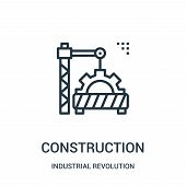 Construction Icon Isolated On White Background From Industrial Revolution Collection. Construction I poster