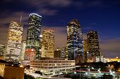 Downtown Houston en la noche
