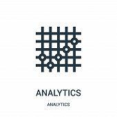 Analytics Icon Isolated On White Background From Analytics Collection. Analytics Icon Trendy And Mod poster