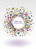 Vector Abstract Colorful Hexagon Background