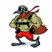 Cartoon Oriole Bird Aviator