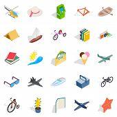 Amazing Toy Icons Set. Isometric Set Of 25 Amazing Toy Icons For Web Isolated On White Background poster
