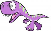 Crazy Insane Dinosaur T-Rex Vector Illustration Art