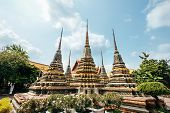 Phra Chedi Rai Location In Wat Pho (wat Po)  Temple Complex In The Phra Nakhon District, Bangkok, Th poster