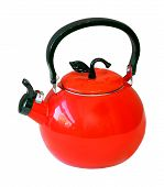 image of kettling  - Retro kettle isolated with clipping path included - JPG