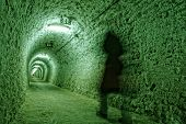 Corridor in the salt mine