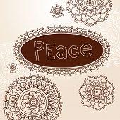 Henna Frame and Mehndi Flower Tattoo Mandala Design Elements Vector Illustration