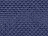 Quilted Vintage Blue Ogee Background